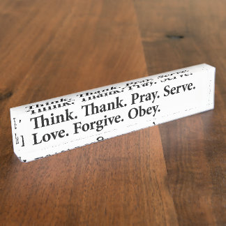 Think Thank Reminder Name Plate