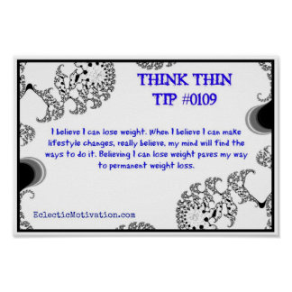 Think Thin Tip #0109 Poster
