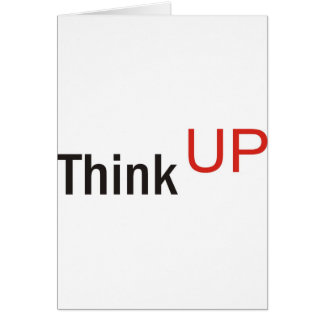 think up alexander technique slogan card