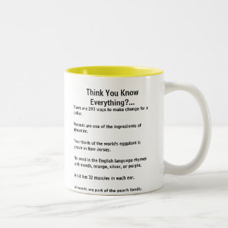 Think you know everything fun fact mug front/back