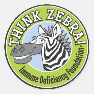 THINK ZEBRA STICKERS