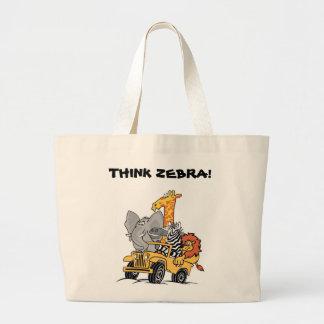 THINK ZEBRA TOTE