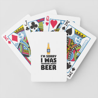 Thinking about Beer bottle Z860x Bicycle Playing Cards