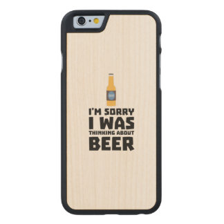 Thinking about Beer bottle Z860x Carved Maple iPhone 6 Case
