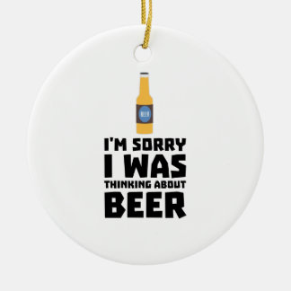 Thinking about Beer bottle Z860x Ceramic Ornament