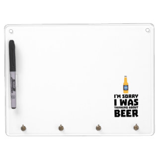 Thinking about Beer bottle Z860x Dry Erase Board With Keychain Holder