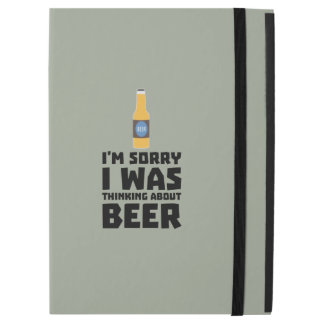 """Thinking about Beer bottle Z860x iPad Pro 12.9"""" Case"""