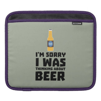 Thinking about Beer bottle Z860x iPad Sleeve