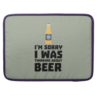 Thinking about Beer bottle Z860x Sleeve For MacBooks