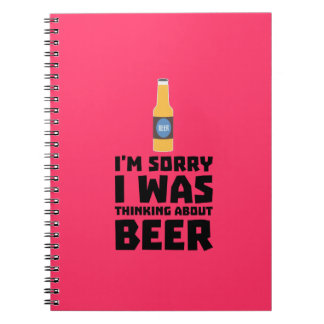 Thinking about Beer bottle Z860x Spiral Notebook