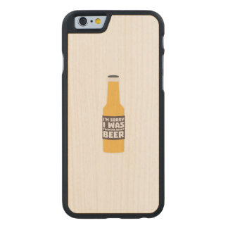 Thinking about Beer bottle Zjz0m Carved Maple iPhone 6 Case