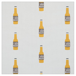 Thinking about Beer bottle Zjz0m Fabric
