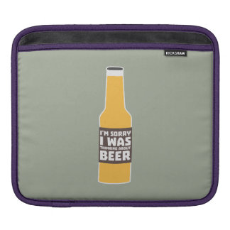 Thinking about Beer bottle Zjz0m iPad Sleeve