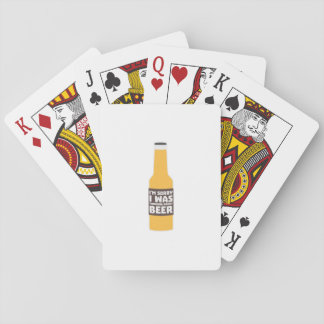 Thinking about Beer bottle Zjz0m Playing Cards