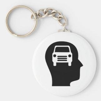 Thinking About Cars Keychain