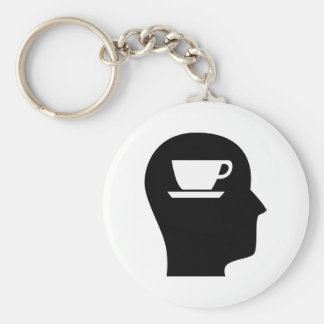 Thinking About Coffee Basic Round Button Keychain