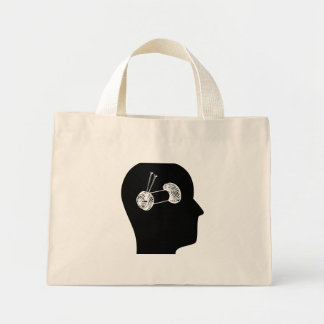 Thinking About Knitting Mini Tote Bag