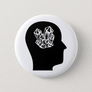 Thinking About Rockhounding 2 Inch Round Button