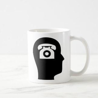 Thinking About Telephones Coffee Mug