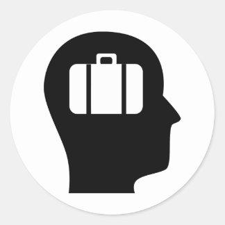 Thinking About Travel Round Sticker