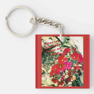 Thinking about you keyring