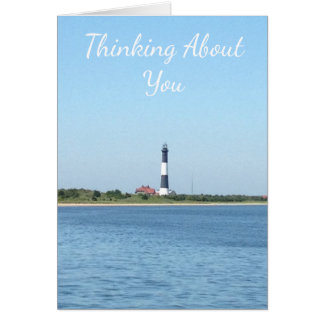 Thinking about you, Missing you Lighthouse Card