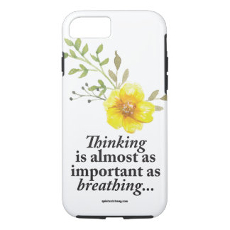 Thinking - Breathing Feminine Introvert Phone Case