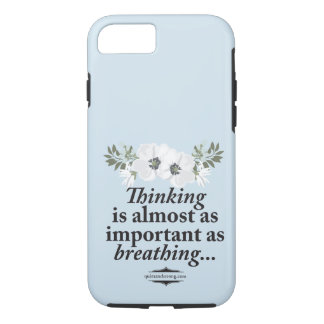 Thinking - Breathing Floral Introvert Phone Case