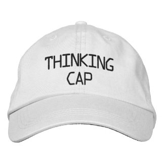 Thinking Cap Embroidered Hat