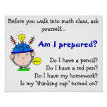 thinking-cap.gif, Before you walk into math cla... Poster