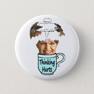 thinking hurts 2 inch round button