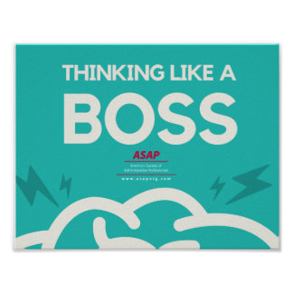 Thinking Like A Boss Poster