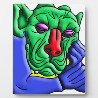 Thinking Monster Plaque
