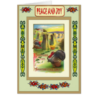 Thinking of you at Thanksgiving Card