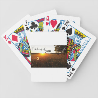 Thinking of you bicycle playing cards