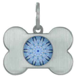 Thinking of You Blue Kaleidoscope Pet Name Tags