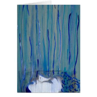 Thinking of You - Blue Original Artwork Card