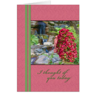 Thinking of You, Bougainvillea, Birds, Waterfall Card