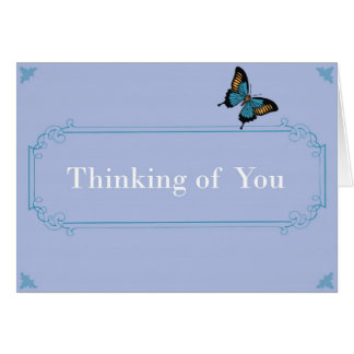 Thinking of You - Butterfly Single Card
