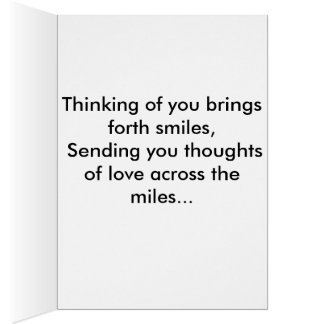 Thinking of you card. card