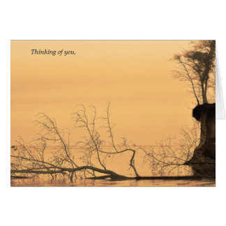 Thinking of you card sepia water photograph