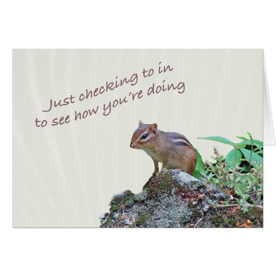 Thinking of You Chipmunk on Rock Card