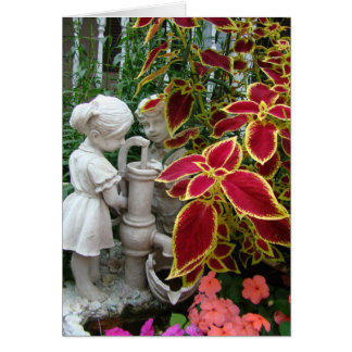 Thinking of You,Coleus With Pump Figurine Card