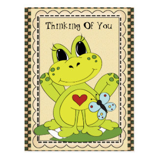 Thinking Of You Country frog Postcard