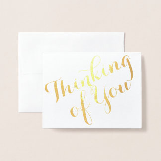 Thinking of You Cursive Foil Card