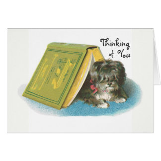 Thinking of You - Cute Yorkshire Terrier Yorkie Card