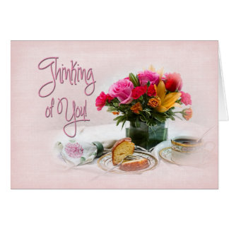 THINKING OF YOU - DELICATE - FLORAL/COFFEE CARD
