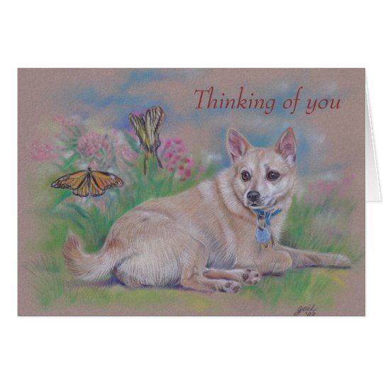 Thinking of You Dog Card