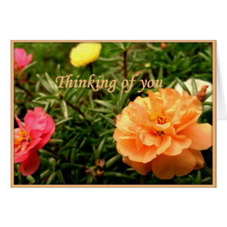 Thinking of You Flower Greeting Card, Customizable Card