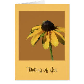 Thinking of You Greeting Card with Sunflower